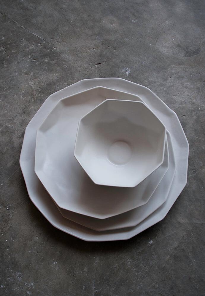 vajilla porcelana colección Geom