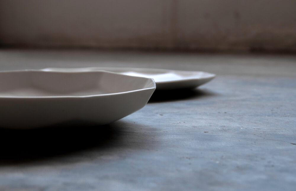 Platos porcelana colección Geom
