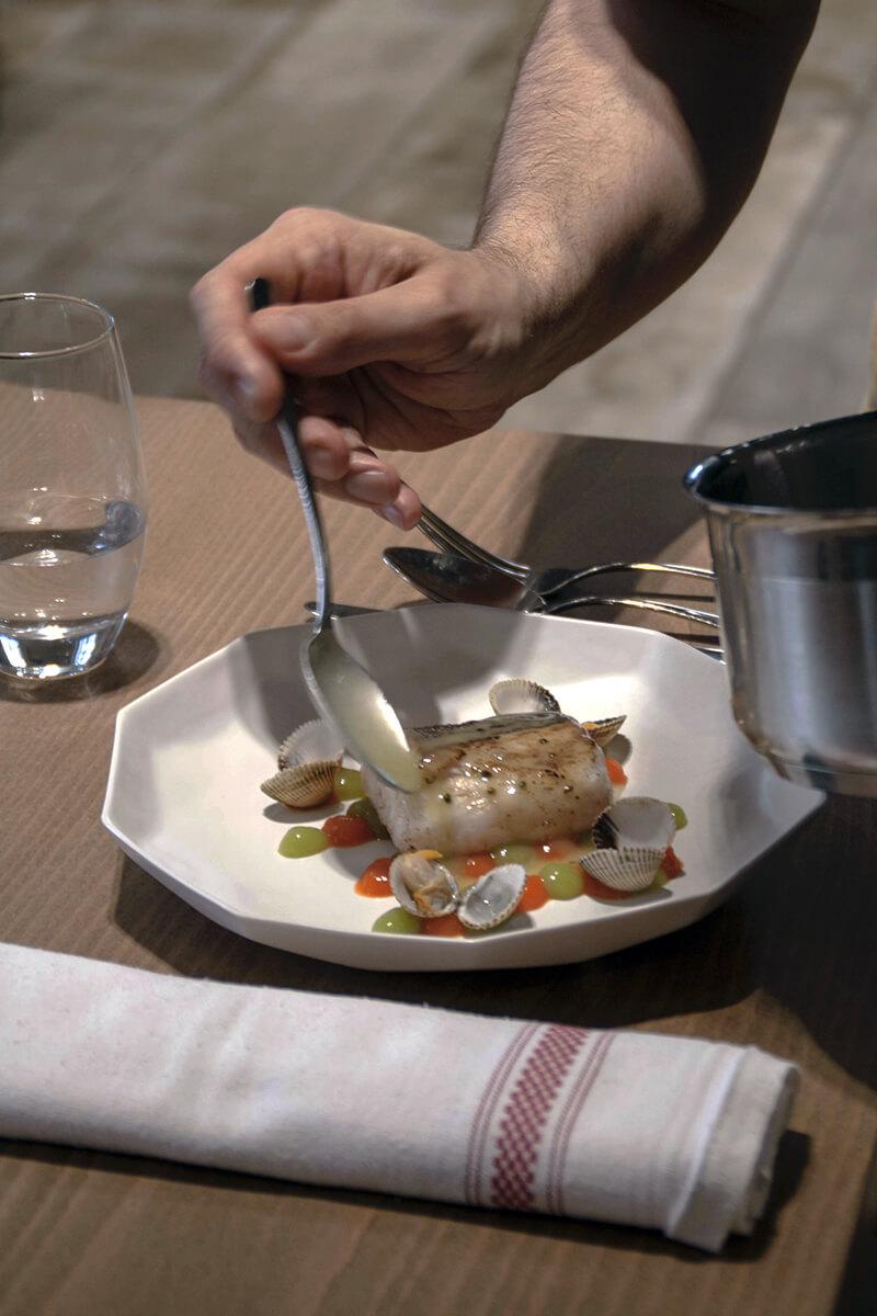 Emplatado vajilla para chefs de porcelana