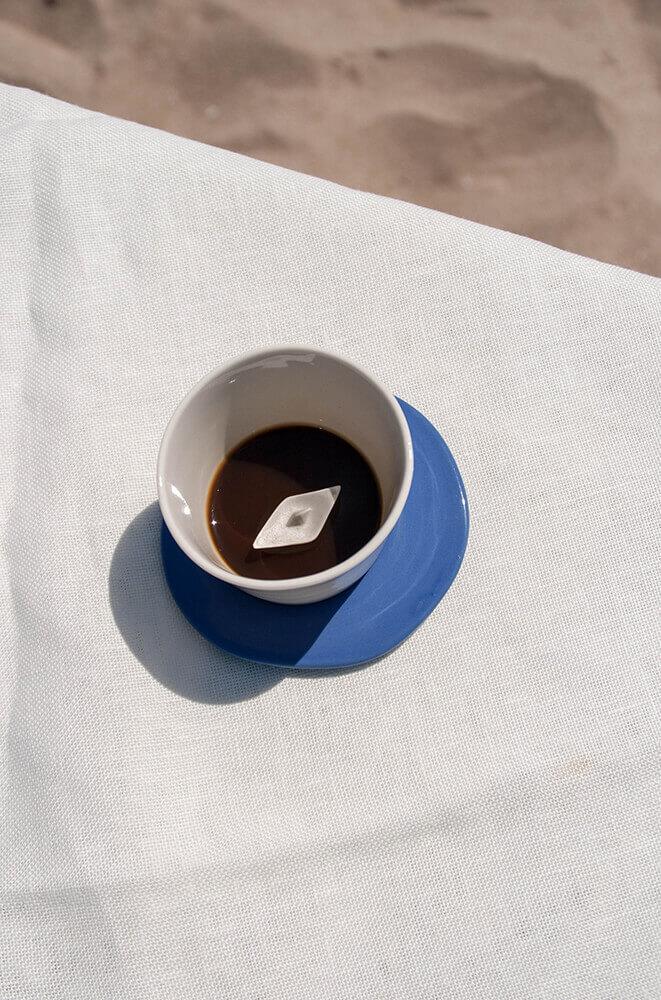 Detalle fondo taza de café Colección Mar