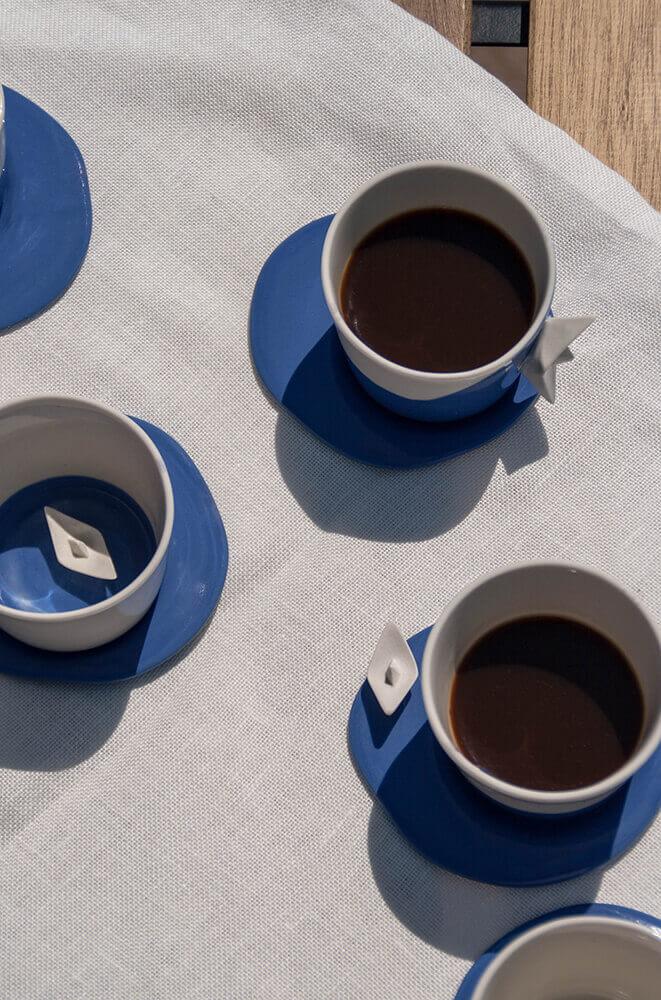 Juego de café porcelana Colección Mar