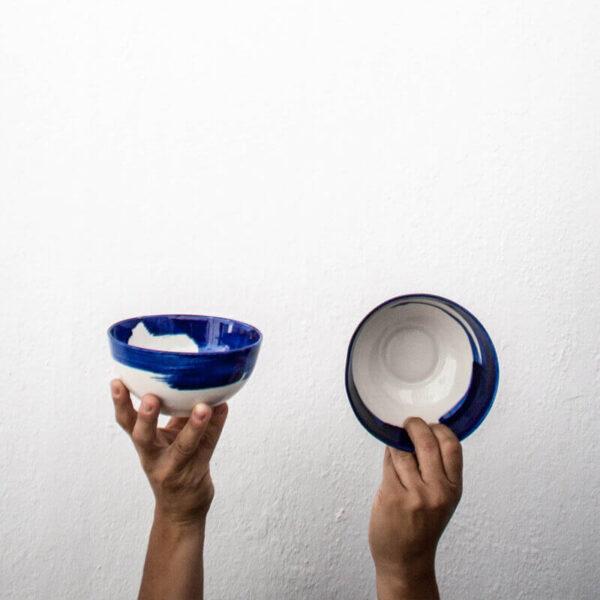 Cuenco pintado azul cobalto Amama