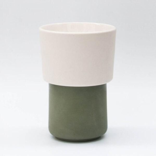 Buna kit taza verde + filtroV60 blanco