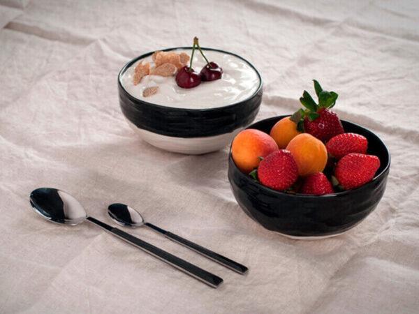 2 cuencos de porcelana Oroneta para desayuno
