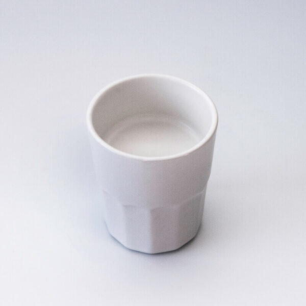Vaso blanco vajilla para pintxos Txikit Oh!