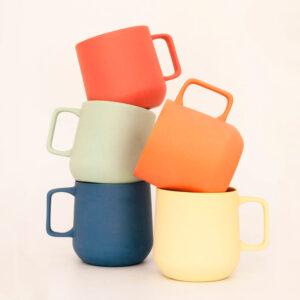 Conjunto de tazas mug Pop! en cinco colores